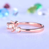 Unique Opal Wedding Band Rose Gold Diamond Ring