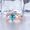pear shaped turquoise