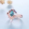 turquoise wedding ring set