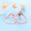 14K/18K Alexandrite Diamond Engagement Rings Rose Gold Wedding Set