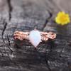 White Opal Ring-BBBGEM Teardrop Opal Ring