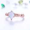 diamond eternity band-BBBGEM Teardrop Opal Ring