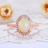 Opal Engagement Ring-BBBGEM Opal Engagement Ring