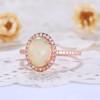 Opal Diamond Ring-BBBGEM Opal Engagement Ring