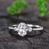 Three Stone Moissanite Engagement Ring-BBBGEM Moissaite Ring