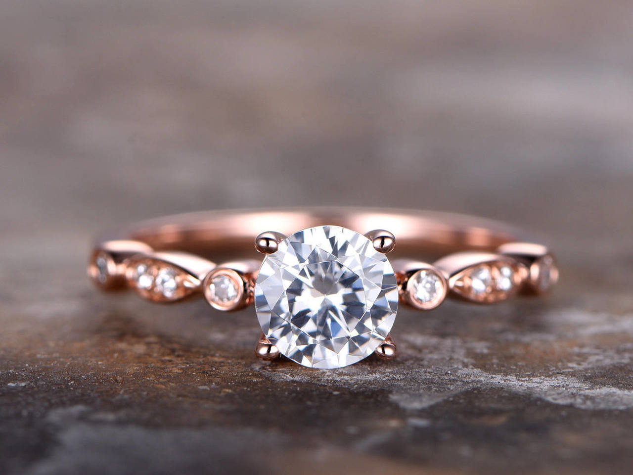 f341c8834a535 6.5mm Round Cut CZ Engagement ring