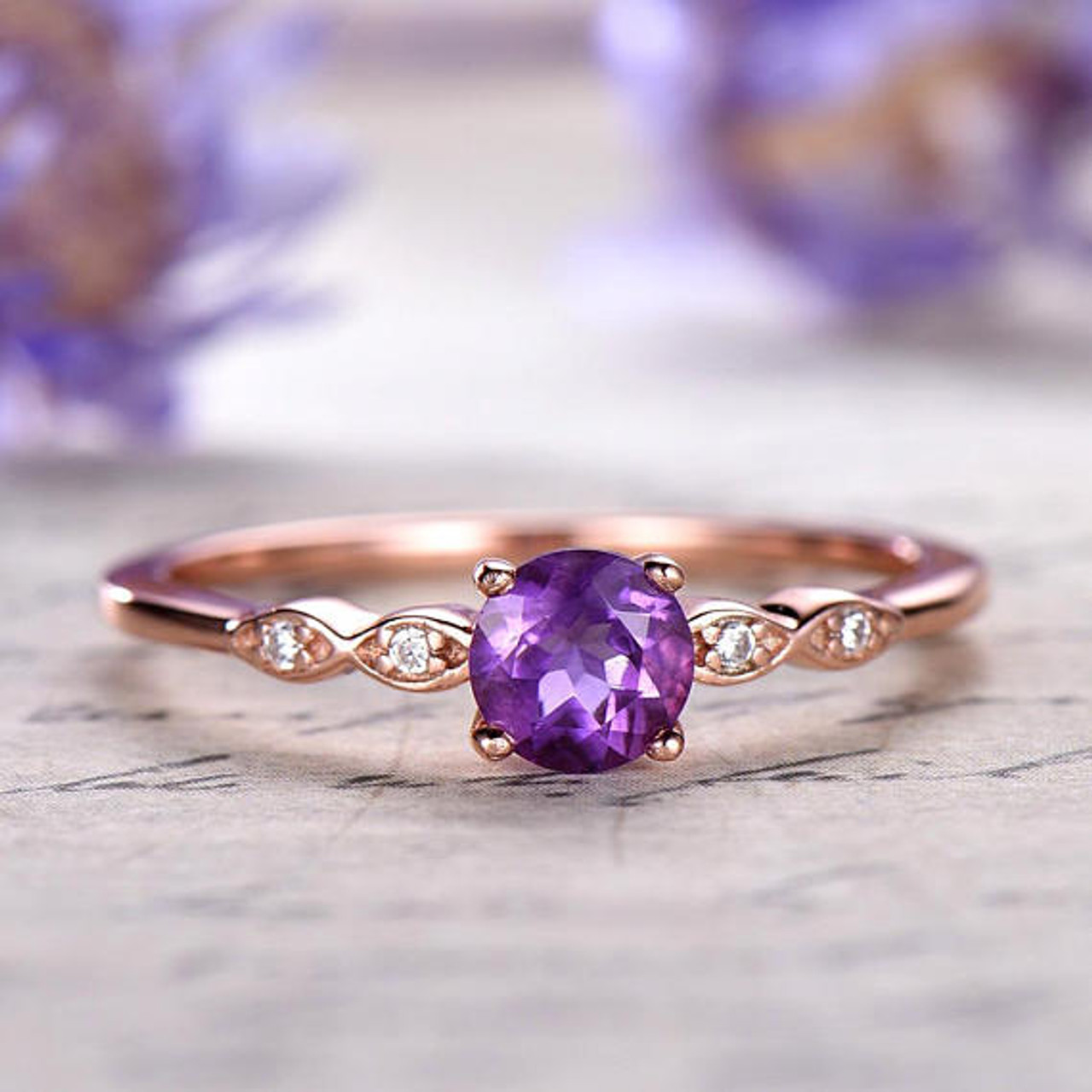 Image result for amethyst ring