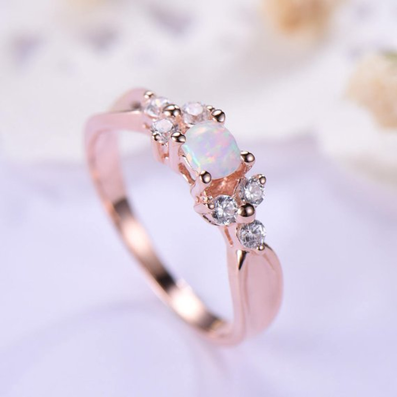 SVC-JEWELS 14k Rose Gold Plated 925 Sterling Silver Black CZ Diamond Cluster Engagement Wedding Band Ring for Mens