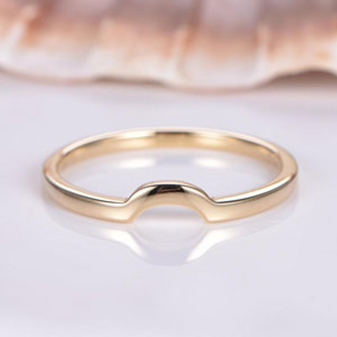 Plain Gold Curved Band $199