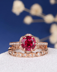 What Does a Ruby Engagement Ring Mean?