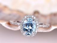 Beautiful Aquamarine Rings below $1000