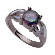 Which black opal wedding ring set should I buy?