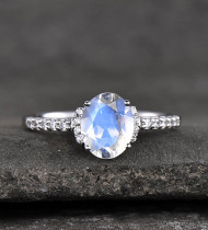 Latest Moonstone Engagement Ring Set Designs in 2021