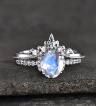 Which is most favorite bride moonstone wedding ring?