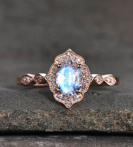 Which is the best rose gold moonstone engagement ring to buy in 2021?