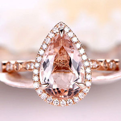 BIG Morganite Engagement ring