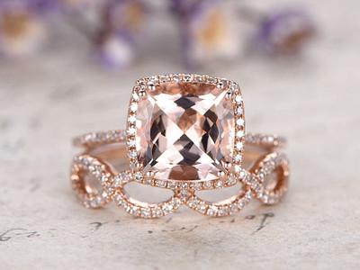 morganite ring set rose gold