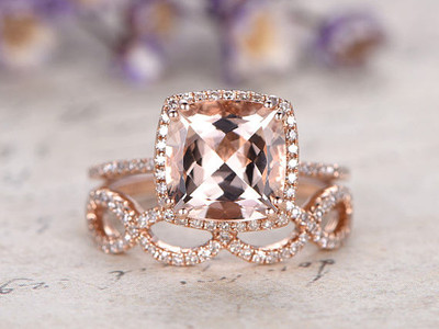 morganite ring set rose gold
