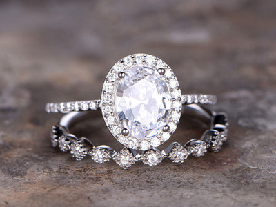 Wedding ring set,CZ Engagement ring