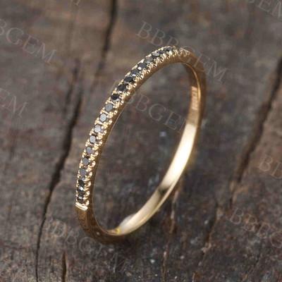 eternity black  diamond wedding ring 01