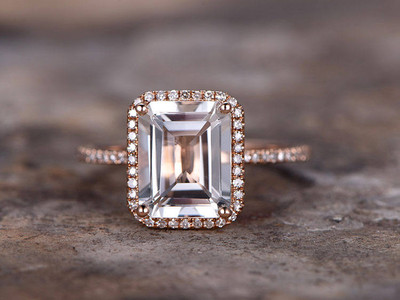 Morganite ring,morganite engagement ring