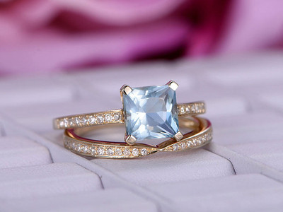 Aquamarine Wedding Set