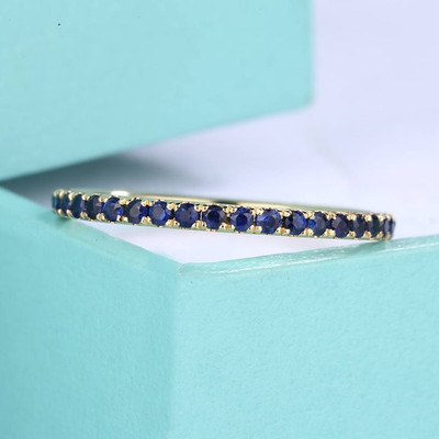 Sapphire Wedding Band women