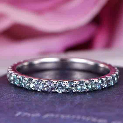 alexandrite eternity band 0
