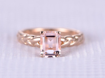 morganite wedding ring