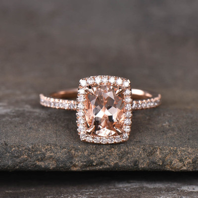 Morganite Diamond Engagement Ring