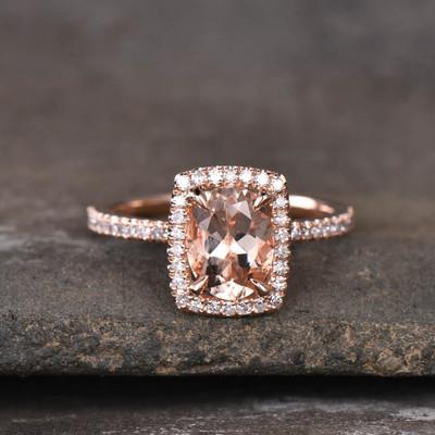 Morganite Diamond Engagement Ring