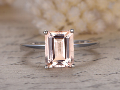 Morganite Engagement Rings Emerald Cut