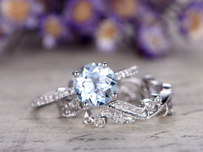 aquamarine ring set