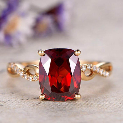 infinity garnet engagement ring 0