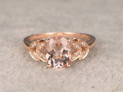 Unique morganite engagement ring