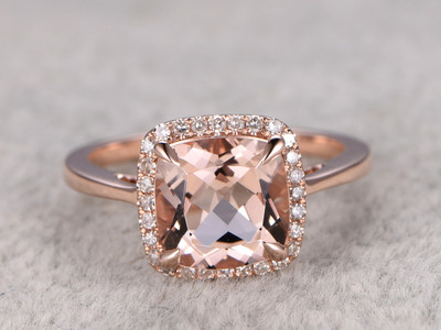 classic morganite engagement ring