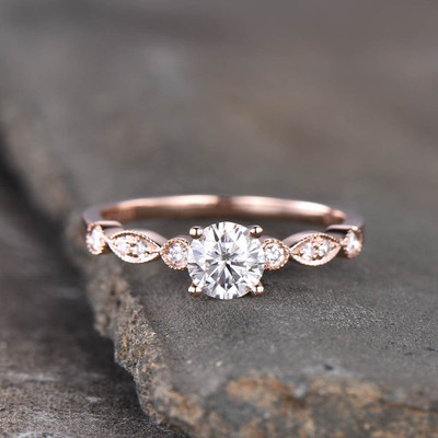 Affordable moissanite engagement ring