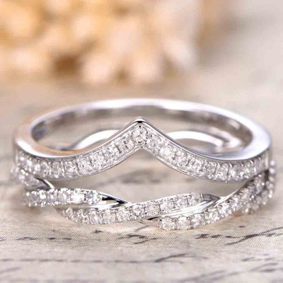 Diamond Wedding Bands White Gold 0
