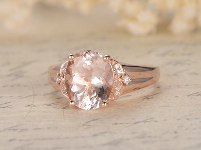 Morganite Engagement Rings Rose Gold