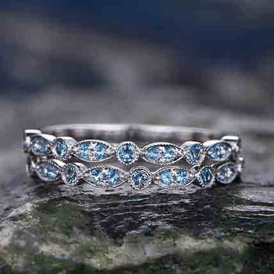 blue topaz wedding band 1