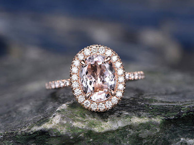 morganite ring set