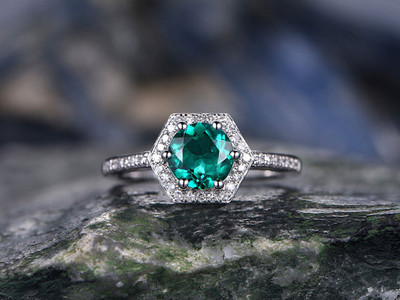 emerald ring set
