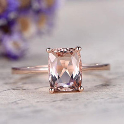 Pink Morganite engagement ring Rose Gold