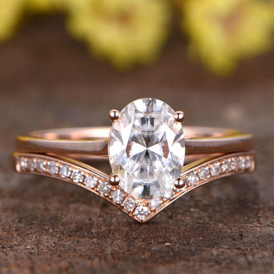 Solitaire Moissanite Wedding Sets