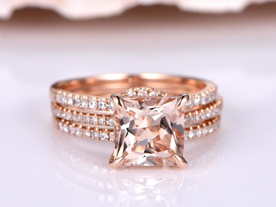 Morganite Wedding Sets