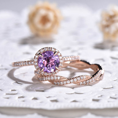 vintage amethyst engagement ring