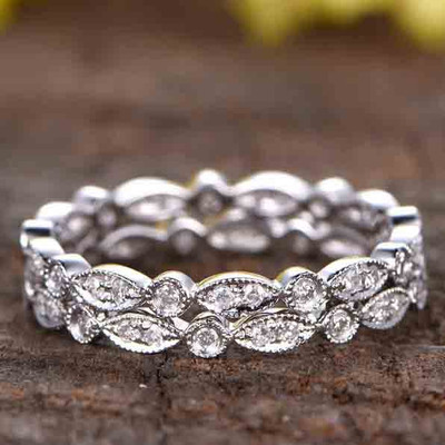 marquise-shaped women's wedding rings 03