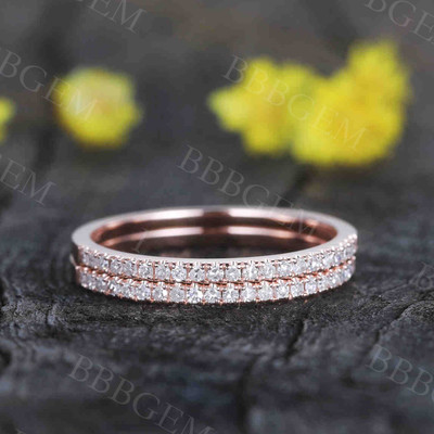 half eternity diamond Wedding Band 0