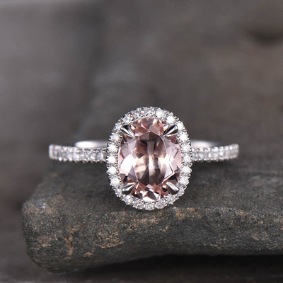 morganite engagement ring white gold