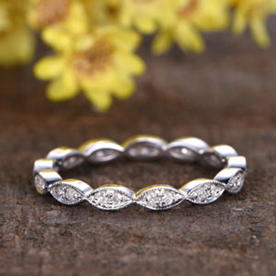 full eternity diamond wedding band